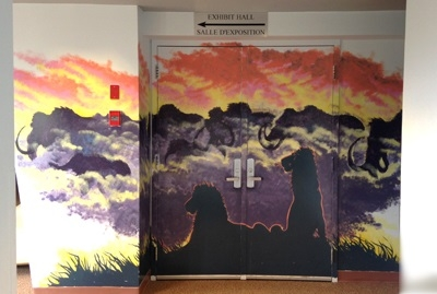 Wall mural at YBIC by Chris Caldwell.