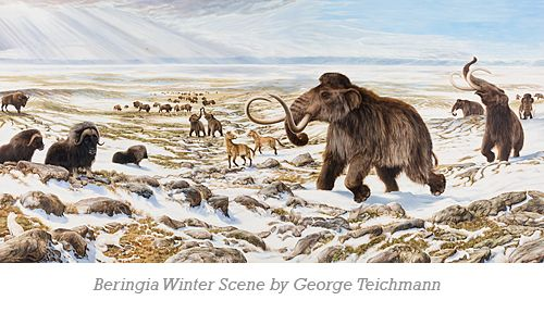 Beringia Winter Scene by George Teichmann